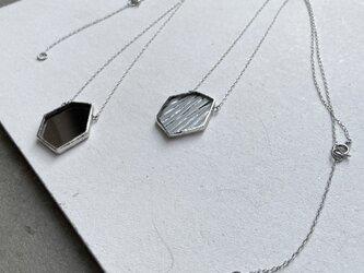 トレゾアネックレス//TRESOR NECKLACE / b.ストライプクリアガラス   50cm +5cmの画像