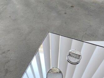 サークルブローチ・気泡ガラス //CIRCLE BROOCH 【a.気泡クリアガラス】の画像