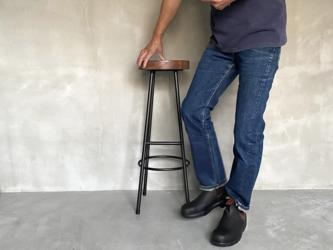 数量限定 WS-H800-LS 足置き付き ハイスツール 椅子 イス チェアー 無垢材 カウンターチェア バースツールの画像