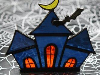 ステンドグラス ハロウィンハウス キャンドルホルダーにもの画像