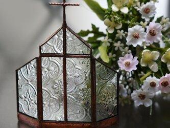 ステンドグラス アンティークな教会 キャンドルホルダーにもの画像