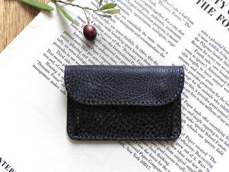 イタリア革の小銭入れ/カードポケット付きの画像