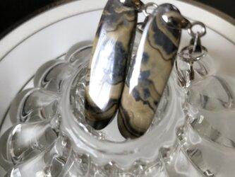 ナチュラル スカレンブレンド&ガレナ イヤリングピアス・ノンピアス用ペア+金具 キット  非加熱 ナチュラル 53.5カラットの画像