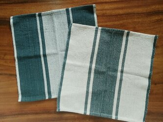 タイの手織りクロス 選べる2枚セット(草木染め・手織り、生成り&藍グレー、コットン)の画像
