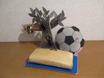 カブト虫、クワガタ腕時計スタンド、サッカーボールスマホスタンド、アクセサリースタンドの画像