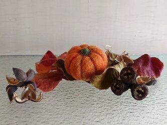 羊毛フェルトのハロウィンかぼちゃ(小サイズ)の画像