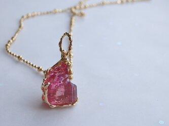 ピンクトルマリン原石*ネックレスの画像