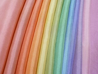(а-01)正絹 胴裏 手染め12枚 12色 はぎれセット 秋色 つまみ細工用布・吊るし飾りにの画像