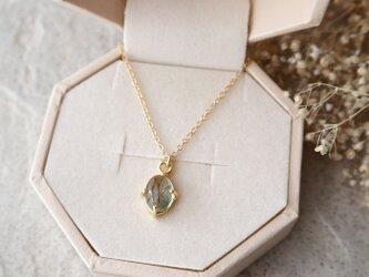 【14kgf】ブラジル産宝石質グリーンルチルクォーツの一粒ネックレスの画像