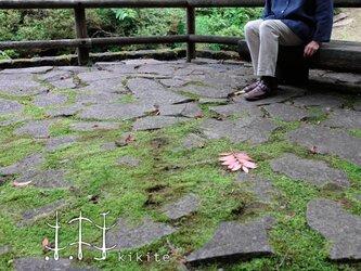 『kikite 01A』ベルギーリネンのシャツブラウス 紺色[Lサイズ]の画像