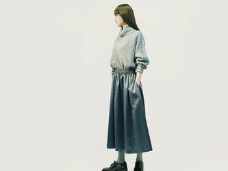 ★M限定★ サテン風 グレー ロングスカート ●ANNETTE-GRAY●の画像