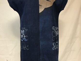【手織り木綿使用】レディース ワンピース チュニック ショートワンピース 古布の画像