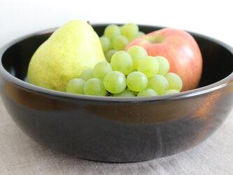 漆塗り八寸鉢(フルーツ鉢):栃の画像