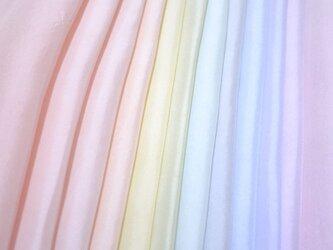 (b-1)正絹 胴裏 手染め12枚 12色 はぎれセット パステルカラー 手芸用・吊るし飾りにの画像