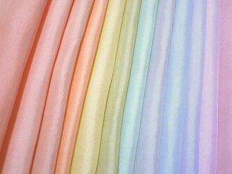 (b-2)正絹 胴裏 手染め12枚 12色 はぎれセット パステルカラー 手芸用・吊るし飾りにの画像