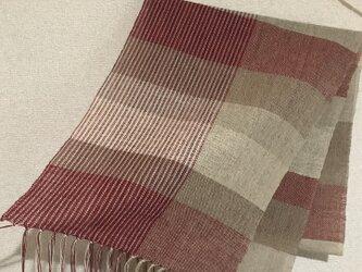 手織りストール A47の画像