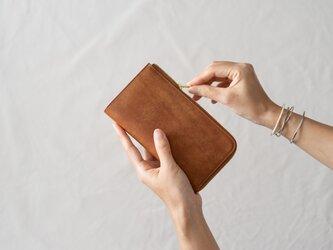 【受注製作】革の財布L Cognacの画像