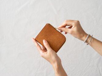 【受注製作】革の財布S Cognacの画像