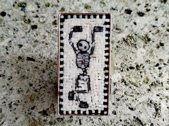 踊る骸骨 リング(フリーサイズ)の画像