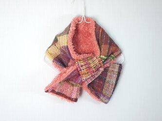 手織り もこもこファーストールの画像