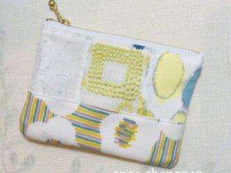 z49●9/16 カードケース(ミナペルホネン服飾生地パッチワーク)の画像