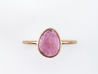 Pink tourmaline ring / Rosecutの画像