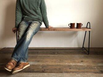 数量限定 CTB-50-120 ベンチ 飾り棚 靴棚 花台 ディスプレイラック アイアン 古材 フラワースタンド 踏み台の画像