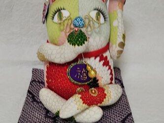 招き猫 おめかし (菊花)の画像
