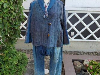 着物リメイク 古布 手作り BORO パンツの画像