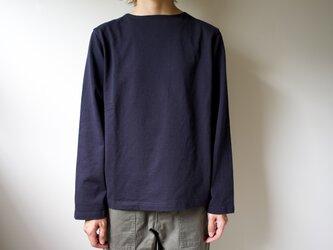 pablo cotton/center back long sleeve tshirt /navy/size1・2・ 3の画像