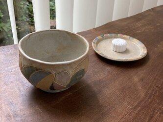 抹茶茶碗とお皿セットの画像