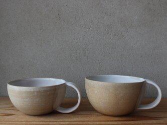 育てるウツワ マグカップ ペアセット  ボウル型(地シリーズ) 茶の画像
