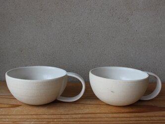 育てるウツワ マグカップ ペアセット  ボウル型(地シリーズ) 白の画像