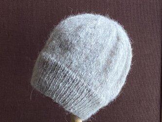 【受注作品】モヘア・ニット帽 ベージュの画像