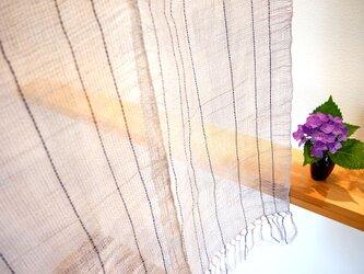 【値下げしました♪】風合いのある麻素材のカーテンの画像
