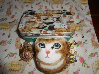 猫ちゃんたちいっぱいソーイングセットの画像