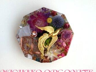 希少オリハルコン入り 鳳凰 ケオン 幸運 自信 成長 美 メモリーオイル入 コースター型 オルゴの画像