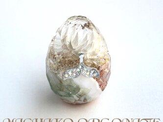 希少オリハルコン入り 強運ホエールテール カット卵型 癒し 浄化 エネルギーバランス 幸運メモリーオイル ケオン オルゴの画像