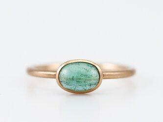 Green tourmaline ring / Cabochonの画像