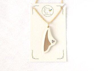 『Sail』ネックレスBeach, 軽い紙のネックレス, ペーパージュエリーの画像
