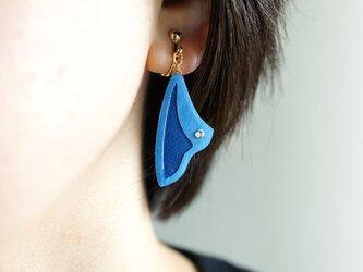 片耳0.3g『Sail』Yokohama  : 軽い・痛くなりにくい紙のイヤリング [ピアス可], ペーパージュエリーの画像