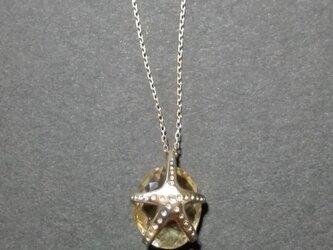Starfish(ネックレス・シトリン&10金製)の画像