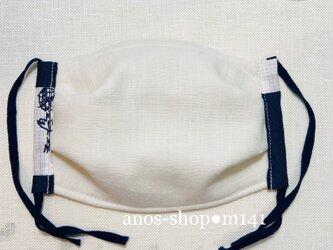 m141●9/19 UVカット抗菌マスク(L ミナペルホネン服飾生地etude)の画像