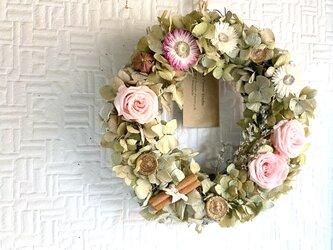 Pink Rose and Ajisai Wreathの画像