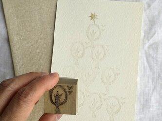 スタンプ 「ツリー」 消しゴムハンコ クリスマス カード  ナチュラル ナチュラコ の画像