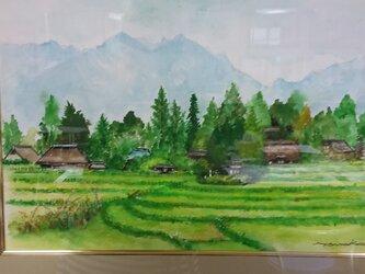 東北の田園風景の画像