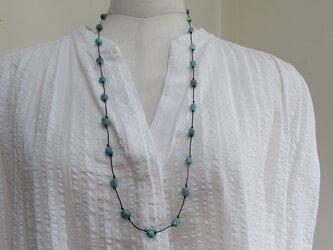 翡翠のネックレスの画像