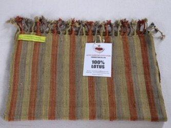 100%蓮糸で織った蓮ストールの画像
