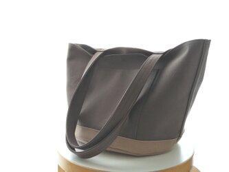 丸底トート スモーキーグレー 2colorあり 倉敷帆布8号の画像