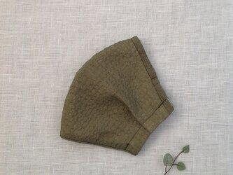 オーガンジーワッフルのタックマスク (カーキ色 )   * 送料無料 *の画像